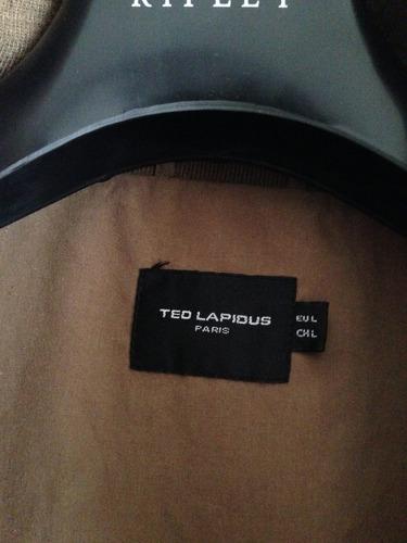 chaqueta de hombre ted lapidus talla l color cafe