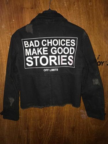 chaqueta de jeans cool negra