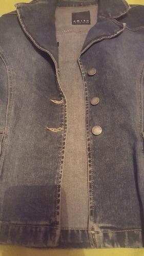 chaqueta de jeans dama