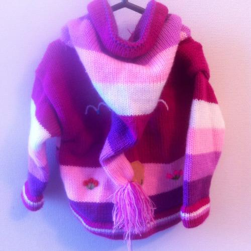 chaqueta de lana 6 a 12 meses + gorro rosa hora avent