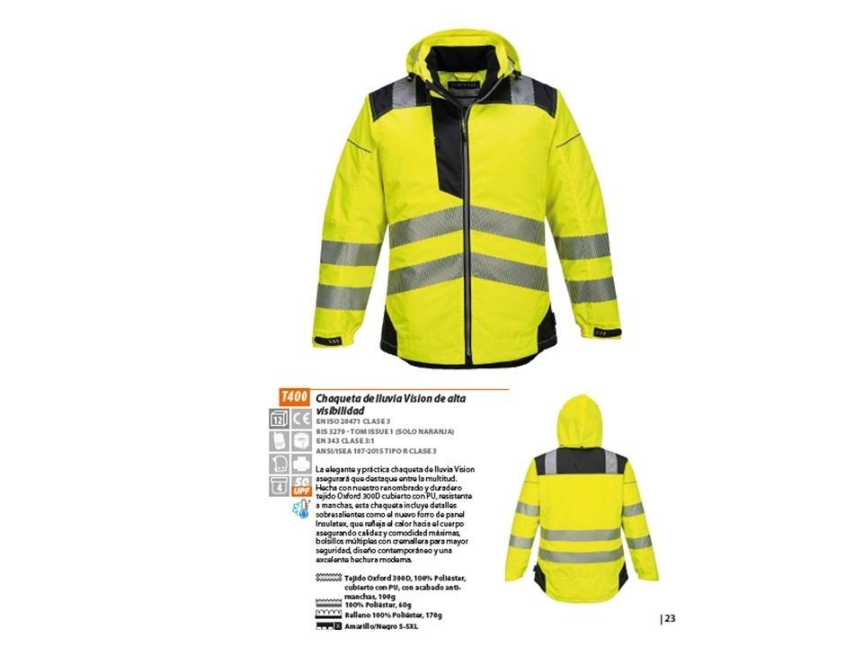 5116fec8b8c chaqueta de lluvia vision de alta visibilidad casaca t400. Cargando zoom.