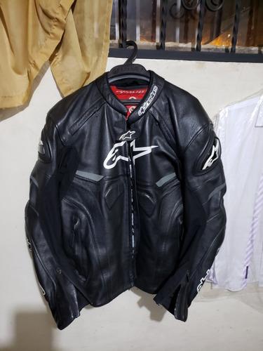chaqueta de moto de competencia de cuero alpinestars celer l