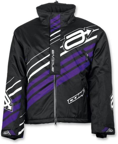 chaqueta de nieve arctiva comp p/mujer, negro/violeta xs