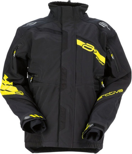 chaqueta de nieve arctiva vibe p/hombre negro/amarillo 3xl