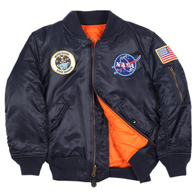 16fa3d7a70cbb Replica Chaqueta Aviador Unisex Alpha Nasa Apollo Ma 1 en Mercado Libre  Chile
