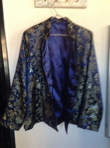 chaqueta de seda  oriental como nueva