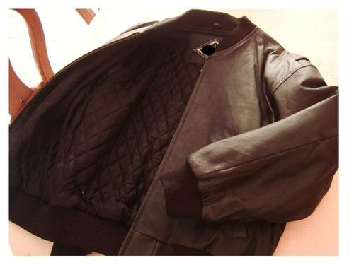 chaqueta de semicuero para caballero talla l