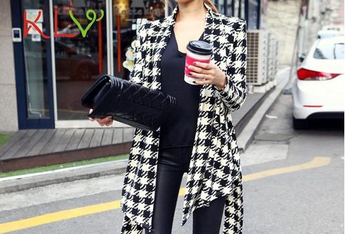 chaqueta delgada para mujer en moda coreana talla -m y l