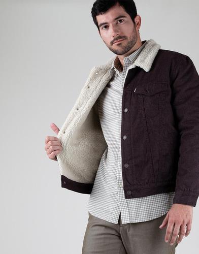 chaqueta denim ovejo marrón- levi's