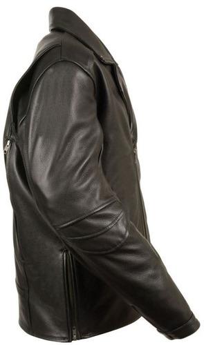 chaqueta d/motociclista milwaukee homb cuero s/cinto neg 2xl