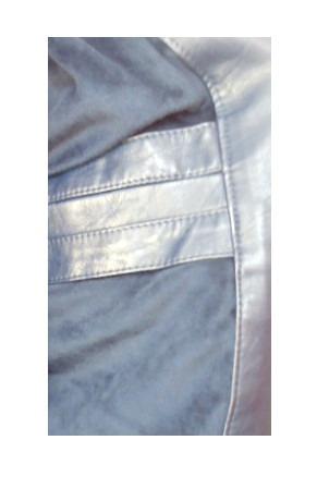 chaqueta eco cuero hombre azul exclusiva