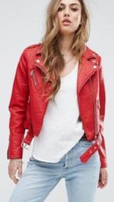 estilo atractivo lo último la compra auténtico Chaqueta Eco Cuero Roja Mujer
