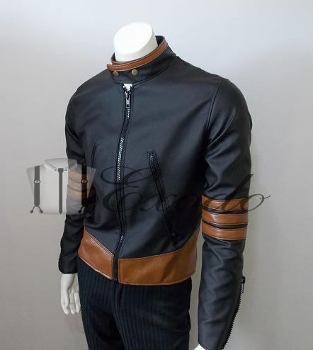 chaqueta eco-cuero wolverine,x-men, logan, s, envió gratis