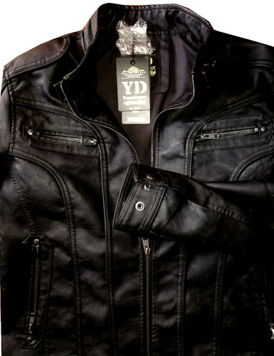 chaqueta eco_cuero negra tallas