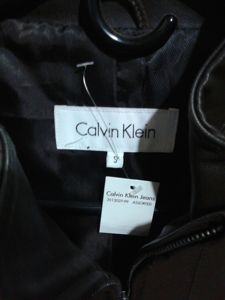 buy popular 8b89e 98b82 chaqueta-en-cuero-calvin-klein-talla-s-marron-dama-nueva-D NQ NP 650329-MLV26586706678 012018-F.jpg