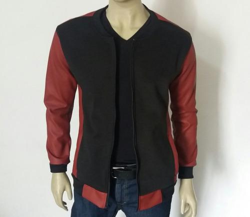 chaqueta en cuero eme casual
