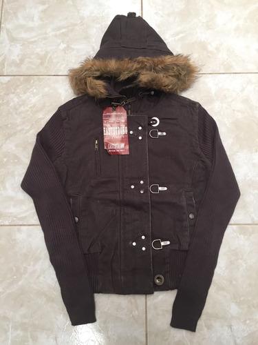 chaqueta en drill para dama con capota promocion buso