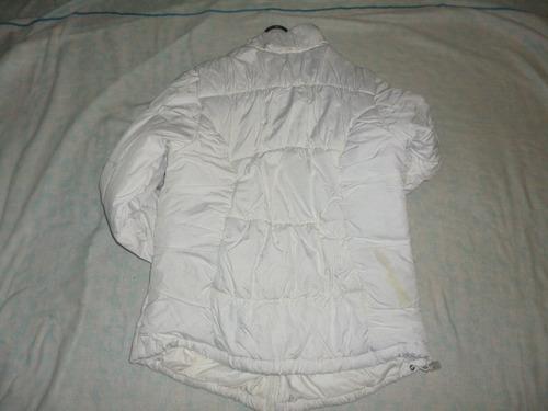 chaqueta en plumas athletic works blanca para dama talla m