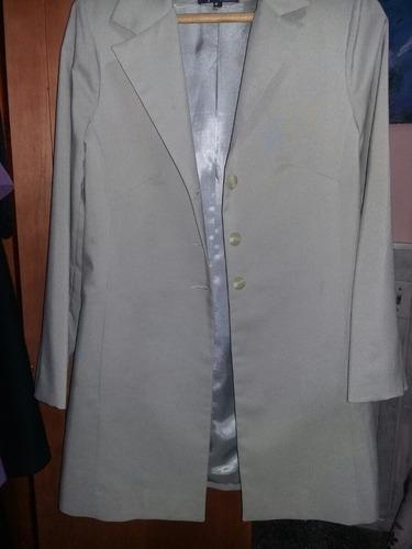chaqueta en polyester,nueva,talle 42/44,marca maná.beige.