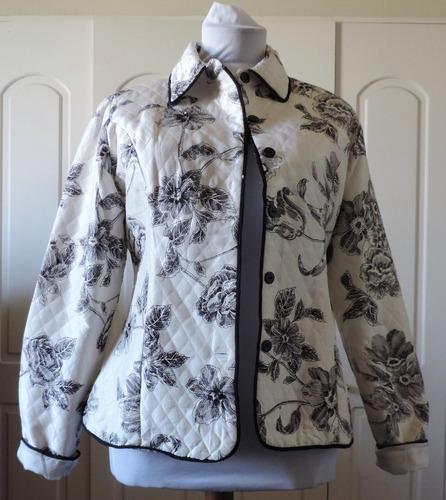 chaqueta estilo japonesa blanco con negro