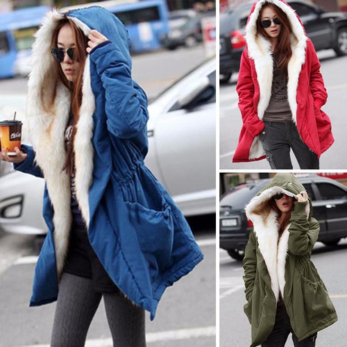 chaqueta fashion mujer winter stylish fleece warm overcoat