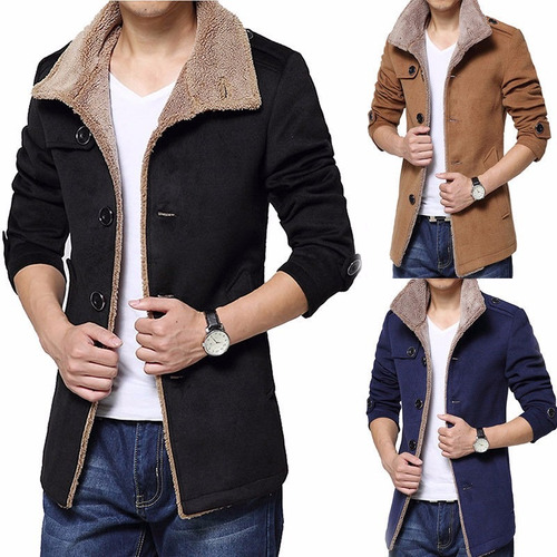 chaqueta fashion parka fleece winter warm trench coat //