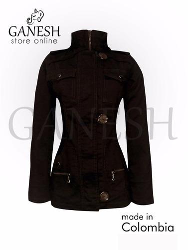 chaqueta gabán elegante estilo princesa ganesh