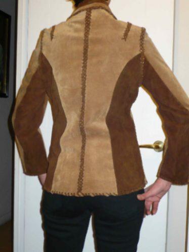 chaqueta gamuza entallada talla s