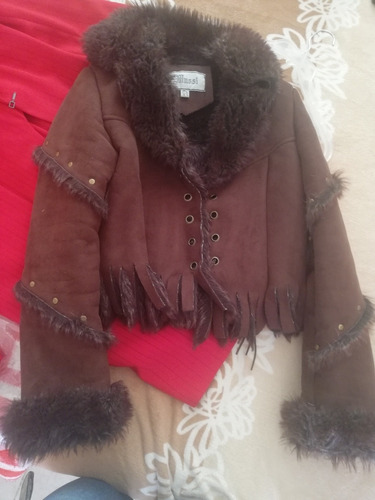 chaqueta gamuza marrón mussi