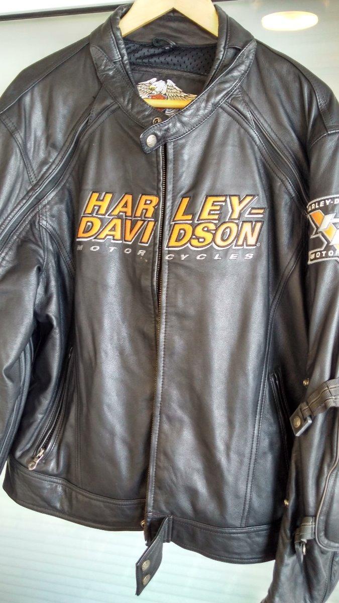 220 000 Chaqueta Davidson Harley Negro Xl Cuero znxBvfwq