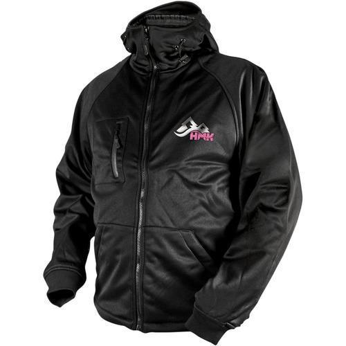 chaqueta hmk c/capucha tech 2015 shell p/mujer negra/rosa lg