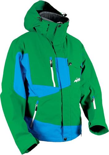 chaqueta hmk peak 2 2014 p/hombre p/nieve verde azul sm