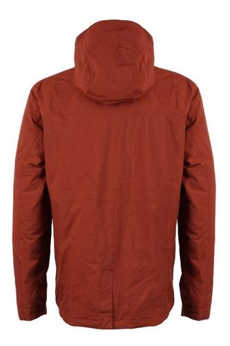 chaqueta hombre linque b-dry hoody terracota lippi