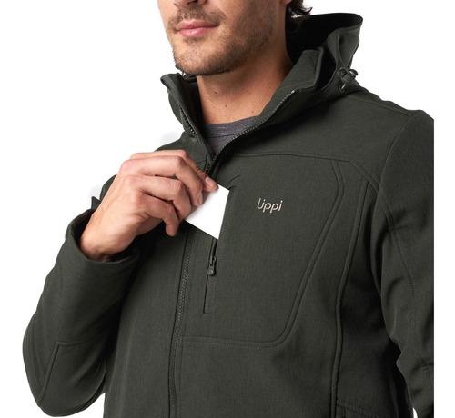 chaqueta hombre lippi macaya softshell hoody jacket grafito