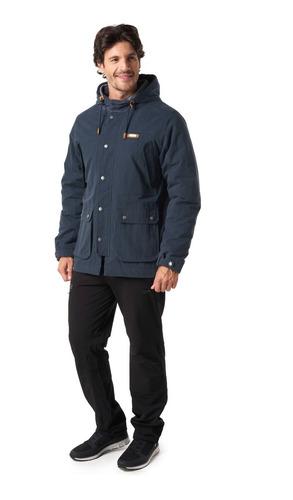 chaqueta hombre lippi peumo canvas hoody jacket azul i19