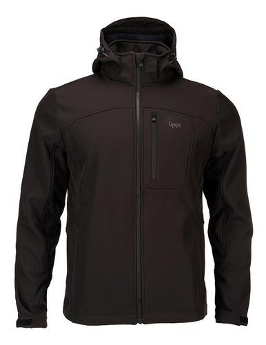 chaqueta hombre macaya softshell hoody jacket negro lippi
