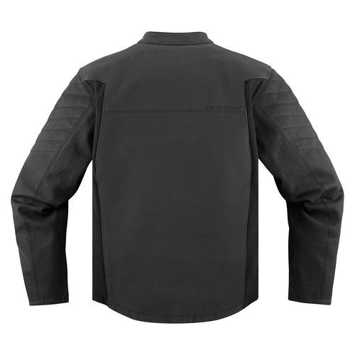 chaqueta icon 1000 axys para hombre cuero negro md