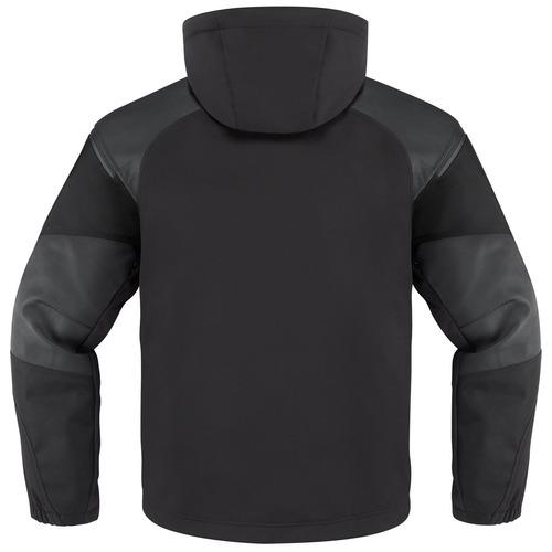 chaqueta icon 1000 basehawk hombre tela/cuero c/capucha lg