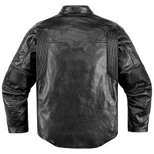 chaqueta icon 1000 retrograde cuero negro p/hombre lg