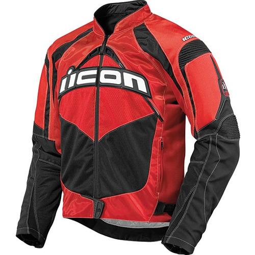 chaqueta icon contra textil roja md