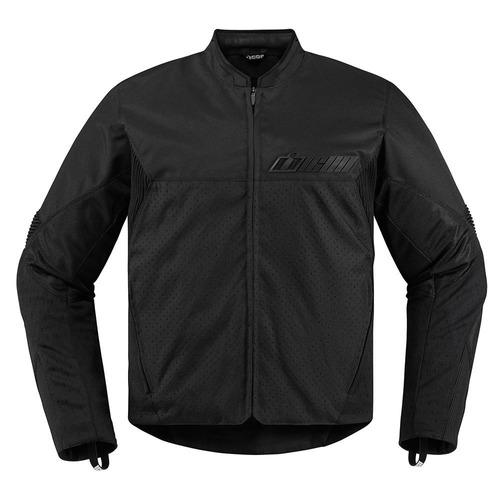 chaqueta icon konflict para hombre textil negra discreta xl