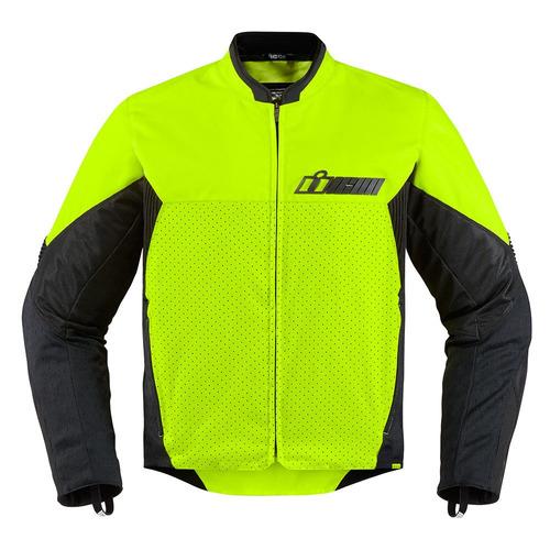 chaqueta icon konflict p/hombre textil amarilla visible xl