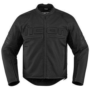 chaqueta icon motorhead 2 p/hombre de cuero negro sm