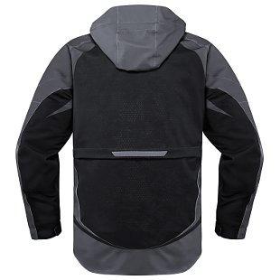 chaqueta icon raiden ux impermeable negro md