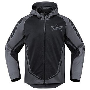 chaqueta icon raiden ux impermeable negro xl