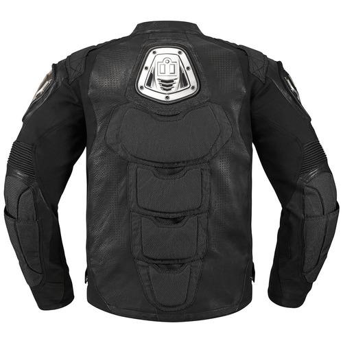 chaqueta icon timax cuero para hombre negro md