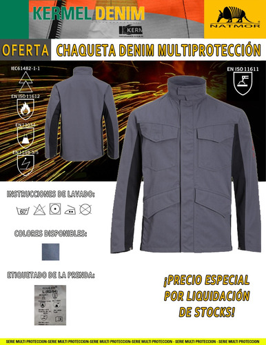 chaqueta ignífuga denim | wahler®