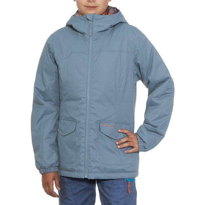 Impermeable S 00 Quechua Chaqueta 149 Warm En Hike 100 Niña Gris qwOCd1