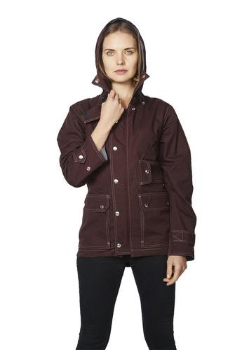 chaqueta impermeable suvivalon burdeo