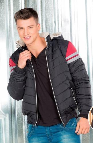 chaqueta impermeable tallas grandes !! acolchada con capota.